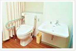 トイレ、洗面台、エアコン、介護用ベッド、クローゼットをご用意